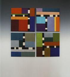 Color Story: Quartet: Sonya Lee Barrington: Fiber Wall Art | Artful Home