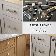 Whether you're looking to finish your kitchen, bathroom, or a piece of furniture, the latest trends and finishes can be found in our collections, available exclusively at Lowe's Home Improvement. Cabinet Knobs, Cabinet Hardware, Hardware Jewelry, Kitchen Hardware, Farmhouse Kitchen Decor, Lowes Home Improvements, Latest Trends, Kitchen Cabinets, It Is Finished