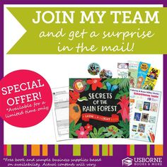 Join my Usborne Books & More team today. Find out the how and why when you follow this link. Love what you do.