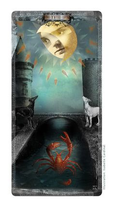 Did you know that Tarot cards are not just of the Wicca religion? Learn how Tarot cards originated, how to make a spread and the art of reading, and what all the cards symbolize. The Moon Tarot Card, Tarot Major Arcana, Moon Shadow, Moon Art, Moon Moon, Dark Moon, Cartomancy, Tarot Card Decks, Oracle Cards