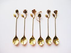 Vintage Japanese Floral Teaspoons- Splendour Collection 1980s.