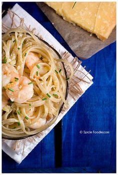 Lemon Pepper Linguine with Shrimp, Pasta, Italian, Spicie Foodie