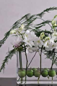 flower arrangement, Apple, D. #phalaenopsis, Asparagus