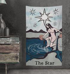 Star Tarot Tapestry Hipster Tarot Tapestry Star Tarot Art | Etsy
