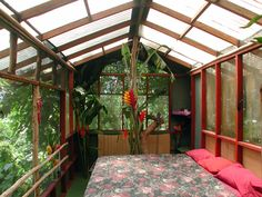 Bedroom in the Treetops Treehouse, Mauai, Hawaii.  Yes please!!