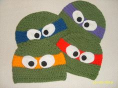 Teenage Mutant Ninjas Turtles- think it would be funny to make these for all the boys! :)