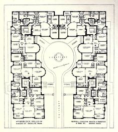 Floor plan of Babcock Halls, Brookline