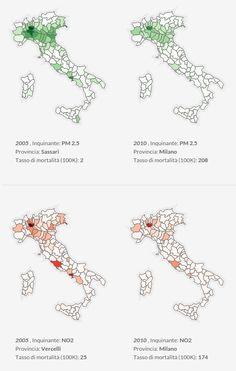 Air Pollution in Italy #dataviz http://viias.it/dataviz/