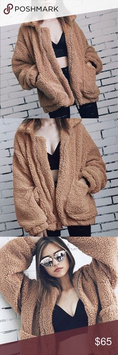 ✨ARRIVES 11/28✨ Fuzzy Teddy Bear Jacket Coming soon! Let me know if you would like to be notified of when this arrives ❤️ Gypsy Los Angeles Jackets & Coats