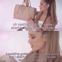 She loves her fans so much she's left a giant Sharpie stain on her designer handbag to remind her of them. | 22 Times Ariana Grande Was Actually Pretty Damn Surprising