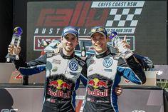 Andreas Mikkelsen i Anders Jæger - najlepsi rajdowi kierowcy świata - WRC (Rajd Australii). #volkswagen #volkswagenteam #volkswagenpolo #motorsport #vw #mikkelsen #jaeger #poznań #australia #champions