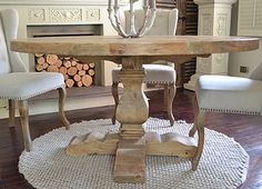 Reclaimed Dining Table | Round Pedestal Dining Table | La Residence Interiors, £850.00