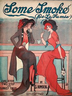 Sheet music cover image of 'Some Smoke One Step Two Step and Turkey Trot' by S Romberg with lithographic or engraving notes reading 'Coont Cahan' New...
