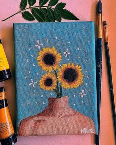 Hippie Painting Ideas 80935 she has a companion who's coming soon? Small Canvas Paintings, Small Canvas Art, Cute Paintings, Mini Canvas Art, Oil Paintings, Amazing Paintings, Indian Paintings, Abstract Paintings, Easy Acrylic Paintings