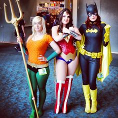Aquagirl, Wonder Woman and Batgirl to the rescue!!! #comiccon #sdcc #cosplay