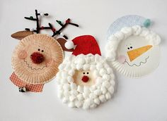 Paper Plate Christmas Character Crafts
