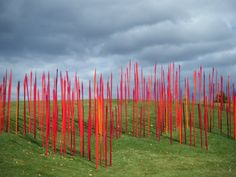 Dale Chihuly. Red Reeds. Glass installation, Frederik Meijer Gardens, Grand Rapids, Michigan.