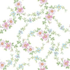 Lilla Wildflowers in sorbet pink fabric by lilyoake on Spoonflower - custom fabric