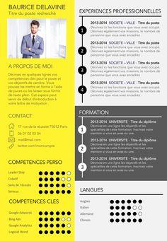 Resume infographic : CV gratuit design et original Creative Cv Template, Cv Template Free, Cv Template Word, Resume Design Template, Creation Cv, Cv Design, Word Cv, Unique Selling Proposition, Perfect Resume