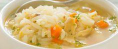 Supa de pui cu orez si smantana