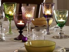 candles in glasses #candle #glass