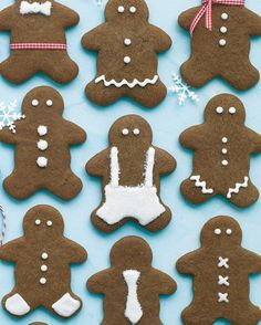Gingerbread People Recipe and cute, simple ways to decorate them with just frosting and ribbons.