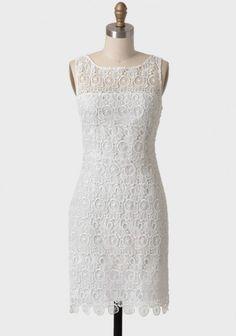 Morrow Lace Dress In White By BB Dakota - Ruche