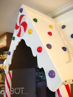 Bringing Our Life-Sized Gingerbread House. To Life Gingerbread Christmas Decor, Candy Land Christmas, Whoville Christmas, Gingerbread Decorations, Holiday Fun, Christmas Crafts, Haunted Gingerbread House, Xmas, Christmas Hallway