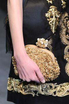 Dolce & Gabbana at Milan Fashion Week Fall 2012 - Details Runway Photos