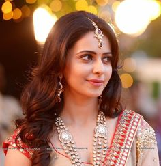 Rakul Preet Singh is an Indian film actress and model who predominantly works in the Telugu film industry. She has also appeared in a few Tamil, Hindi, and Kannada movies. Beautiful Bollywood Actress, Beautiful Indian Actress, Beautiful Actresses, Beautiful Women, Beautiful Gorgeous, Indian Film Actress, South Indian Actress, Indian Actresses, South Actress