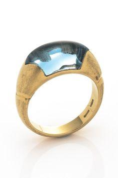 Vintage Bvlgari 18K Yellow Gold Tronchetto Ring - Size 6 on HauteLook