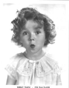 Shirley Temple, with one of her classic expressions