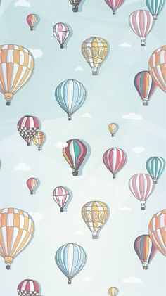 Hello April Balloon Home Screen Wallpaper @PanPins