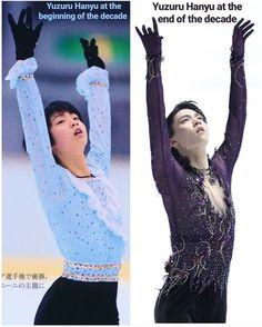 """Yuzuru at the beginning of the decade vs. at the end of the decade Cr. Sendai, Miyagi, Ice Skating, Figure Skating, Yuzuru Hanyu Pooh, Volleyball Rules, Male Figure Skaters, Body Poses, Yuri On Ice"
