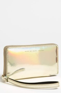 MARC BY MARC JACOBS 'Techno - Wingman' iPhone Wristlet | Nordstrom Love love. I need a new iphone case!