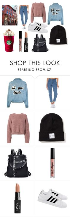 """""""back in town"""" by saraasecci on Polyvore featuring Wrangler, rag & bone, NYX and adidas"""