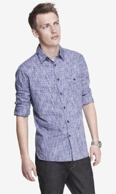 fitted printed shirt from EXPRESS