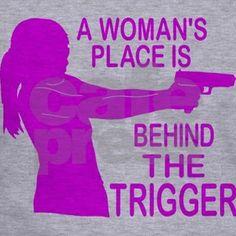 WOMAN SHOOTER Hoodie by GirlzHuntNFish