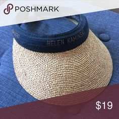 Classic Kaminski A classic Helen Kaminski straw visor. Lightweight and soft, stays put and does a great job of blocking the sun without getting hat head or hot head. helen kaminski Accessories Hats