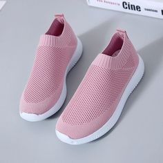 brand new 904c6 173f8 Comfortable Plus Size Women Walking Breathable Air Mesh Knit Slip On  Sneakers Trainers Shoes - NewChic Mobile