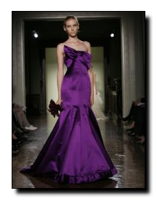 I want my maid of honor in purple!