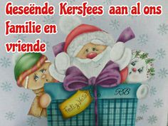 Geseënde Kersfees aan al ons familie en vriende Afrikaans, Teddy Bear, Messages, Christmas Ornaments, Toys, Holiday Decor, Happy, Xmas Ornaments, Christmas Jewelry