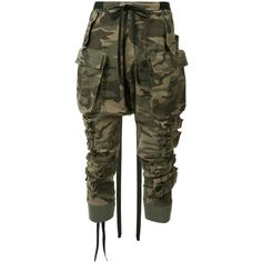Unravel Project camouflage tapered trousers ($955) ❤ liked on Polyvore featuring men's fashion, men's clothing, men's pants, men's casual pants, pants, jeans, bottoms, green, mens camouflage pants and mens camo pants