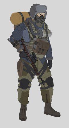 Sacha of the Spartan Rangers, Will JinHo Bik Apocalypse Character, Apocalypse Art, Anime Military, Military Art, Armor Concept, Concept Art, Character Concept, Character Art, Arte Zombie