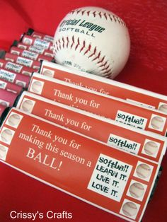 Crissy's Crafts: Softball favors - Hershey's wrappers printable