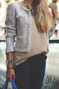 Modern Cropped Tweed Jacket. Every girl needs some Coco Chanel in her life!