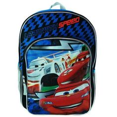 "Disney Cars - Lead with Speed 16"" Large School Backpack Blue/black Disney http://www.amazon.com/dp/B00CQBKPC4/ref=cm_sw_r_pi_dp_xwntvb132E9E9"