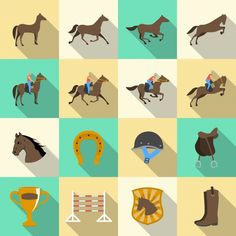 Buy Horseback Riding Flat Shadows Icons Set by macrovector on GraphicRiver. Horseback riding flat shadows icons set of horse rider sport dressage and horseshoe isolated vector illustration. Horse Template, Badge, Vector Portrait, Vector Photo, Portrait Illustration, Pictogram, Vector Pattern, Horseback Riding, Dressage