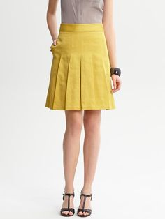 Just got this skirt.  Super cute and I love the color.