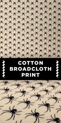 Spider Pattern Cotton Broadcloth Print
